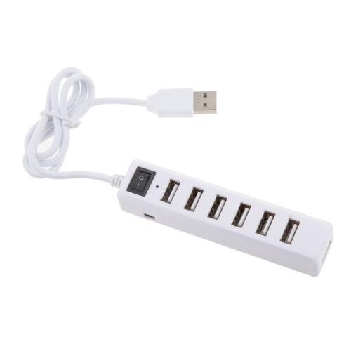 7 Port USB 2.0 High Speed Multi HUB Expansion Adaptor For PC /& Laptops