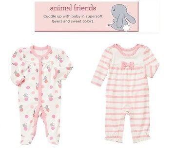 "Gymboree Girl/""Animal Friends/""Bunny Slip n Play  0 3 6 12 18 24"