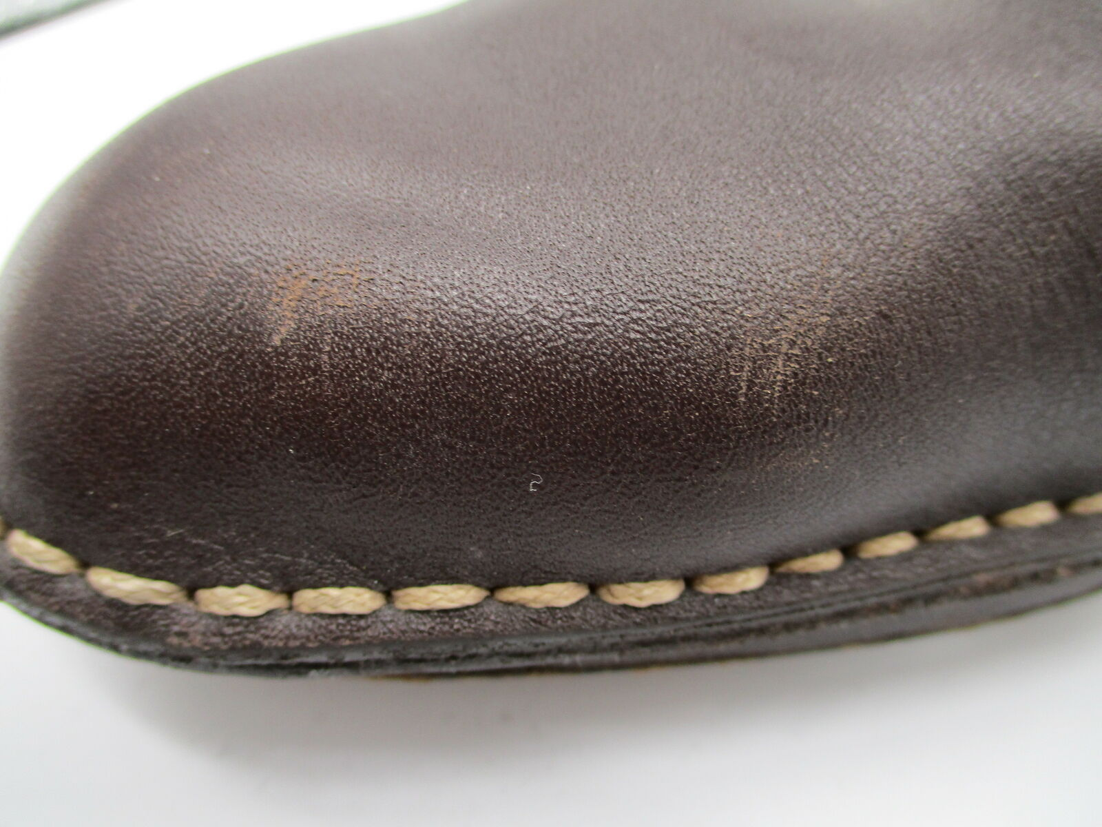 TODS brown leather block heel mules sz 40.5 - image 8