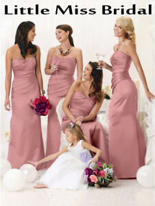 Dusky Dusty Pink Rose Bridesmaid Dress Dresses Evening Ball Party ...