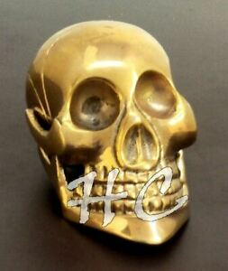 Skull-Head-Style-Solid-Brass-Handle-For-Wooden-Walking-Stick-amp-Vintage-Cane-gift