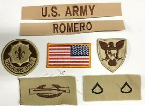 Usa Sport 100% Wahr 8 Us Army Patch Set Dcu Desert Uniform Konvolut 2nd Acr Cavalry Spc Romero Online Shop