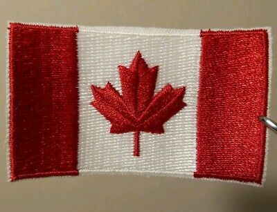 """DMPA-70 USA Mailed Canada Flag 4/"""" Wide DELUXE Embroidered Patch"""