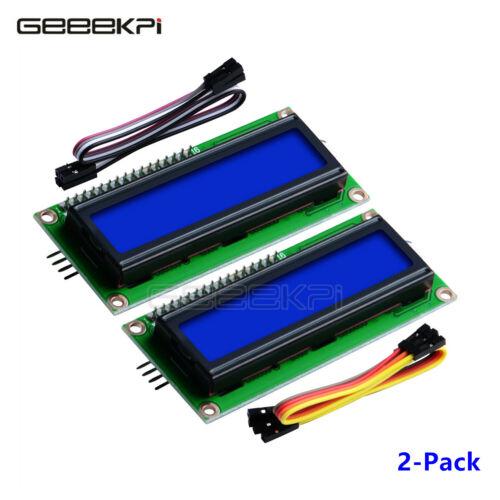 2-Pack I2C LCD1602 module d/'affichage 16X2 Caractères série rétroéclairage bleu Module