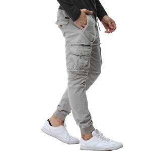 super popular 68c17 392aa Details about Pantalones para hombre Casual Nuevo estilo Hombres Ropa Moda  Pantalón cargo