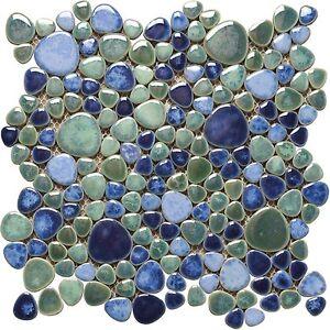 Keramik mosaik fliesen kiesel optik silex azzuro ebay - Keramik mosaik fliesen ...