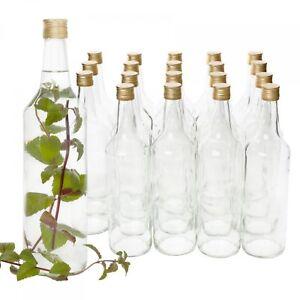 20er Set Glasflaschen Venezia 1 Liter Leere Flaschen Weinflaschen