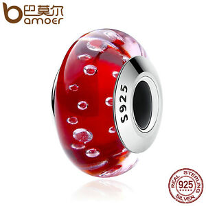 Bamoer-Fine-Authentic-S925-Silver-Red-Murano-Bubble-Bead-Fit-Bracelets-Jewelry