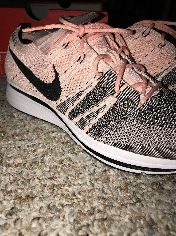 J. Nike Flyknit Trainer Pink Black White AH8396-600 Men 10, Women 11.5
