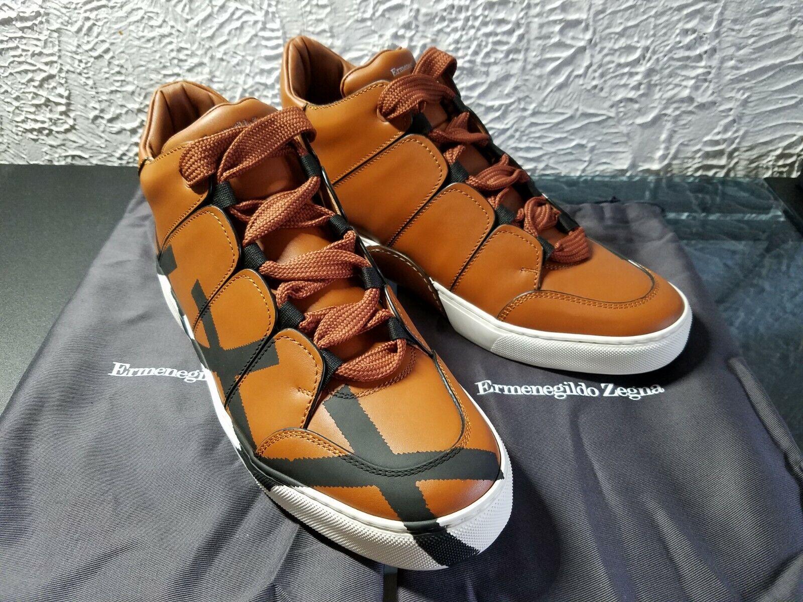 ERMENEGILDO ZEGNA XXX COUTURE TIZIANO HI-TOP scarpe da ginnastica scarpe Dimensione 10 EU   11 US