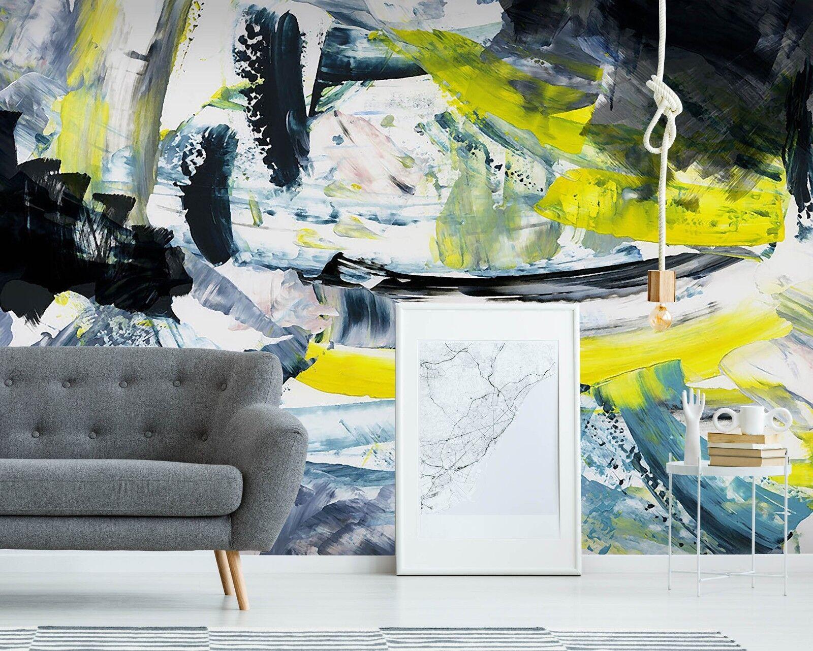 3D Watercolor Graffiti 85 Wallpaper Mural Paper Wall Print Murals UK Lemon