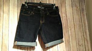 Old Navy Para Mujer The Flirt Oscuro Denim Jean Con Puno Bermudas Caminar Pantalones Cortos Talle 0 Ebay