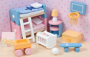 Le Toy Van muñeca casa Sugar Plum Comedor de Madera Juguete BN