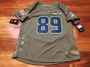 online retailer 33c12 aa47a Details about Nike Womens Seattle Seahawks Salute To Service Jersey Doug  Baldwin SZ 2XL