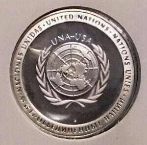 1971-UNITED-NATIONS-Silver-Proof-Medal-amp-Stamp-SET-UNIVERSAL-POSTAL-UNION-i65216