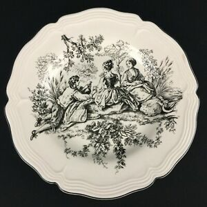 Dinner-Plate-by-Tabletops-Unlimited-New-England-Toile-Picnic-Black-and-White