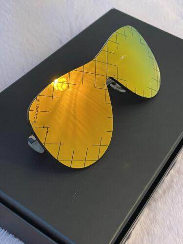 100% Authentic CHANEL ORANGE Shield/mask Runway Su
