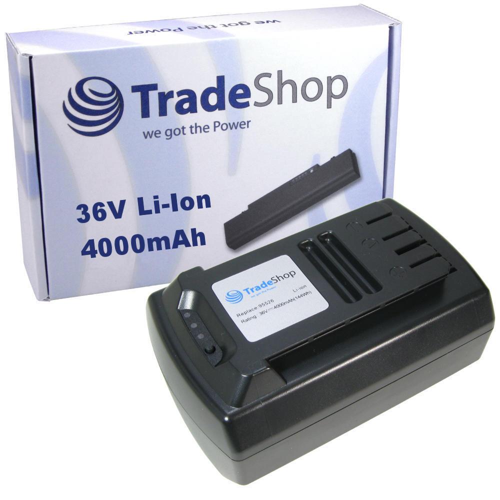 Trade-Shop Premium AKKU 36V 4000mAh Li-Ion ersetzt Güde 95526 95543
