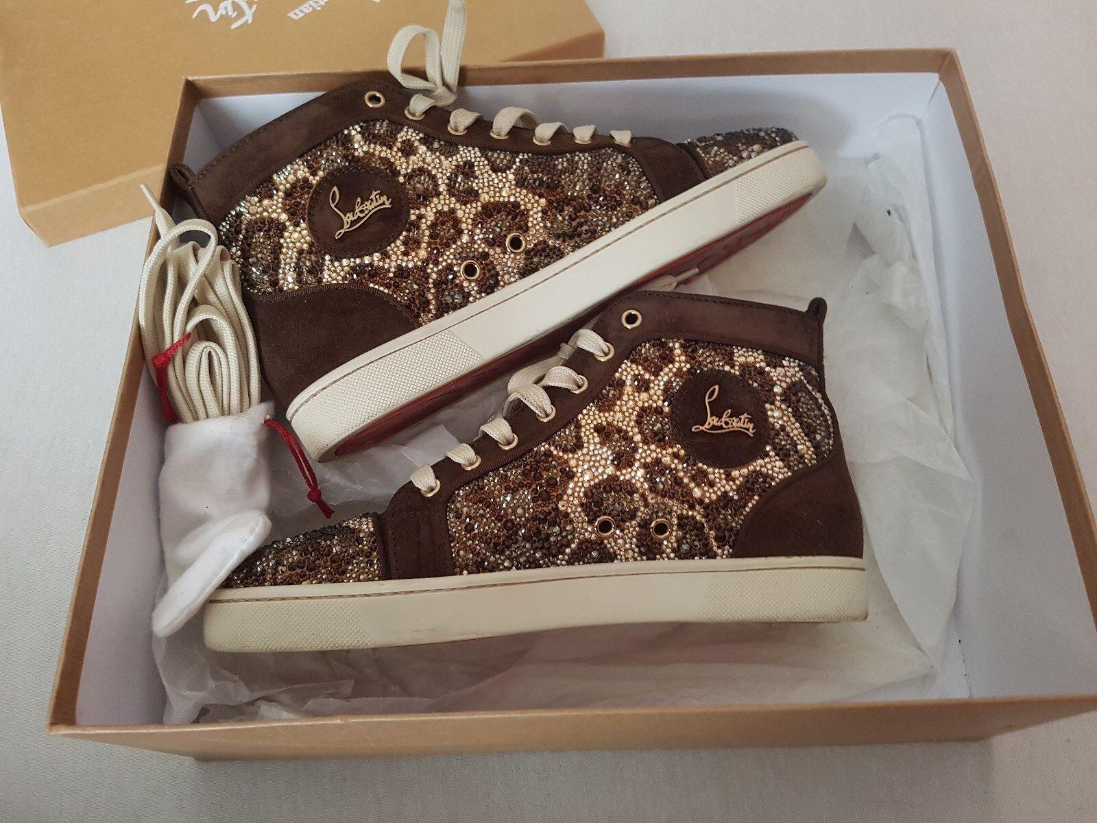 3600  christian louboutin sneakers strass leopard