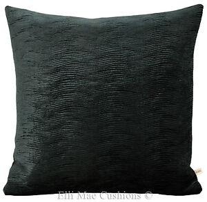 harlequin arkona designer black velvet cushion cover ebay rh ebay com black velvet cushions australia black velvet cushions nz