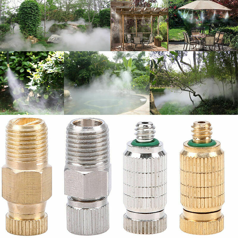 Outside Parterre Brass Adjustable Gardening Water Mist Sprayer Misting Nozzle