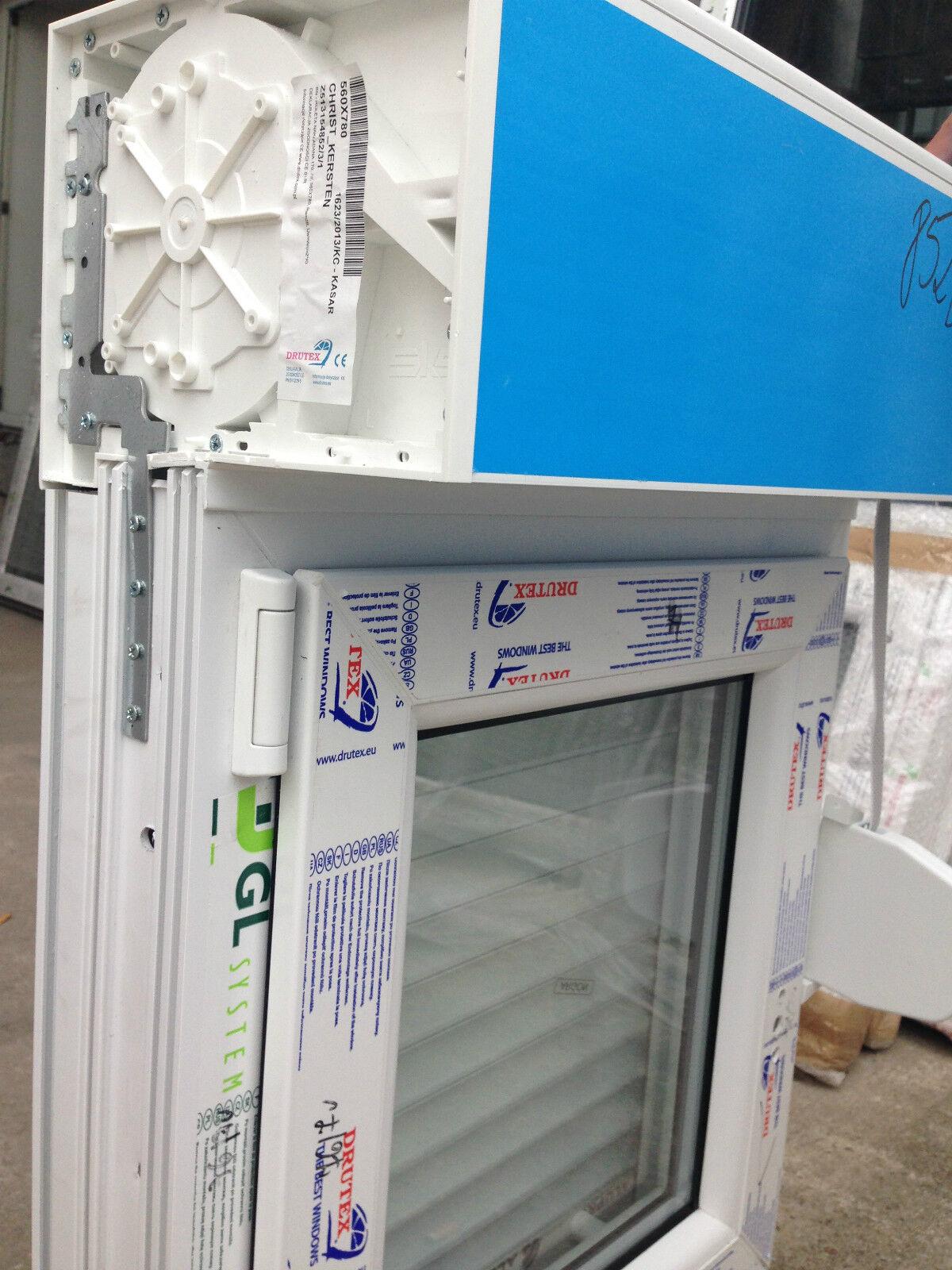Fenster 1000 mm  Dreifachverglasung mit Elektromotor  Kasten montiert Rollladen