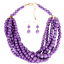 Women-Bohemian-Choker-Chunk-Crystal-Statement-Necklace-Wedding-Jewelry-Set thumbnail 134