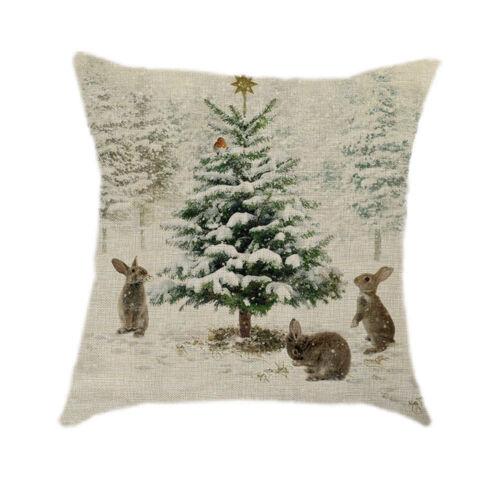 Weihnachten Kissen Fall Santa Baumwolle Leinen Sofa Auto werfen Kissenbezug Home