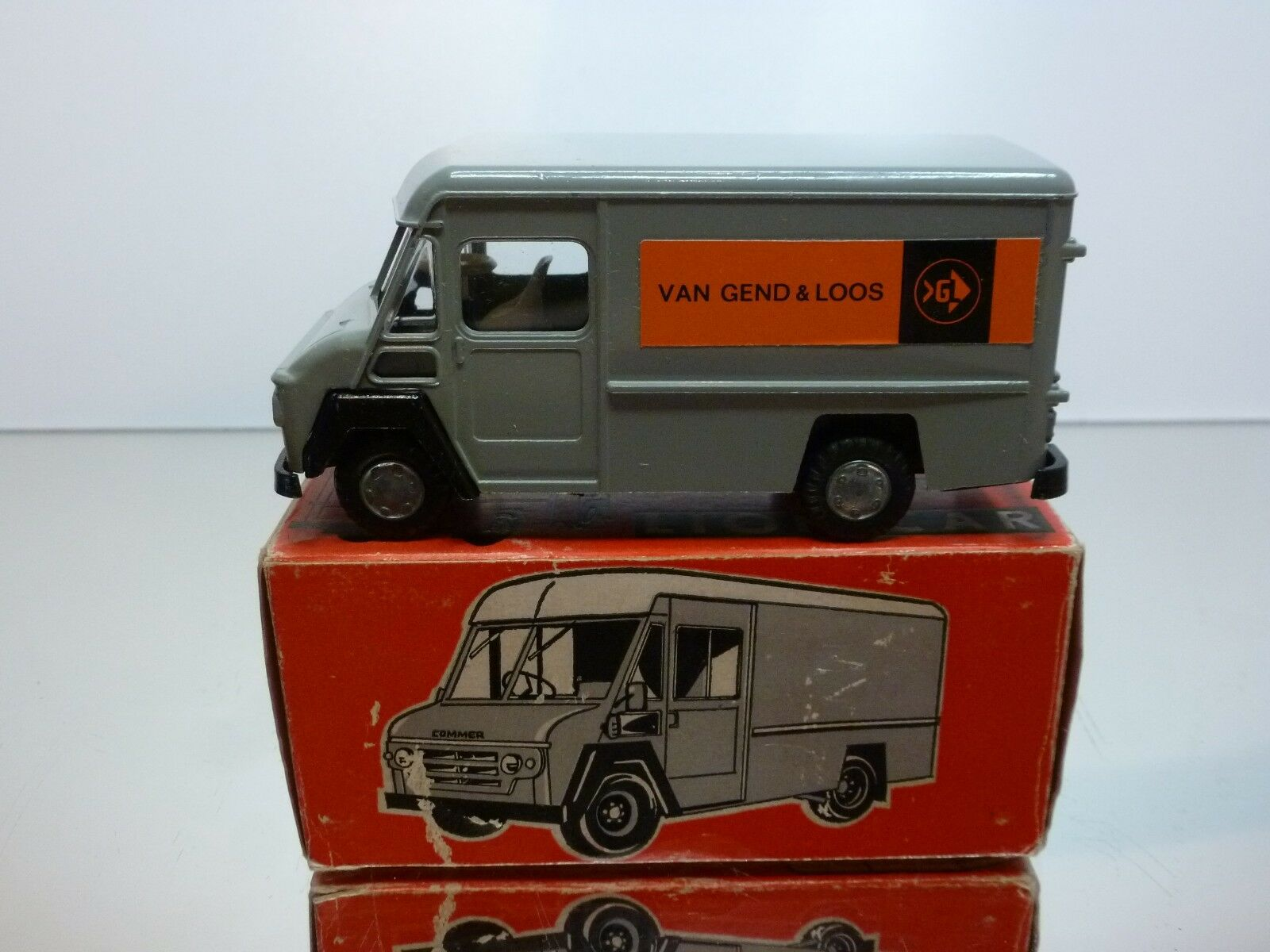LION CAR COMMER VAN  VAN GEND & LOOS  - GREY 1 43 - EXCELLENT IN BOX