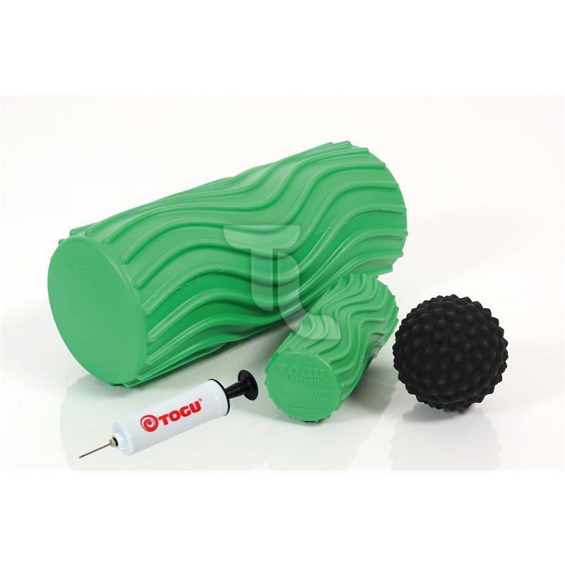Togu Actiroll Kit with Pump Wave S M actiball fazienrolle Massage Roll New Grün