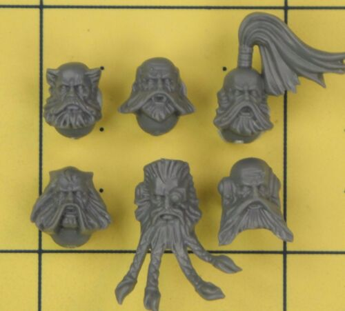 C Warhammer 40K Space Marines Space Wolves Wolf Pack têtes
