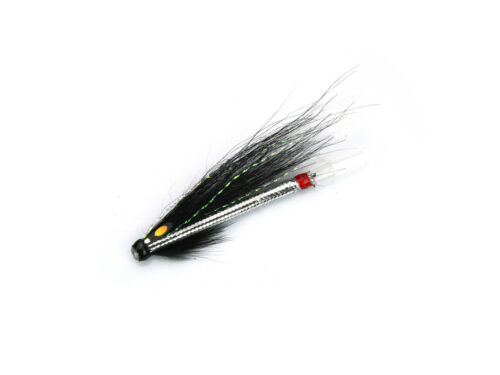 Elver Snake Black Tube Fly Salmon Fly Sea Trout Flies Plastic Tubes 8-pack