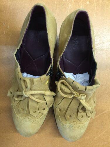 5 Heel 80iger Shoes Platform Daim Jaune 38 Block Gr Neuf Comme Rétro Marc t01qw