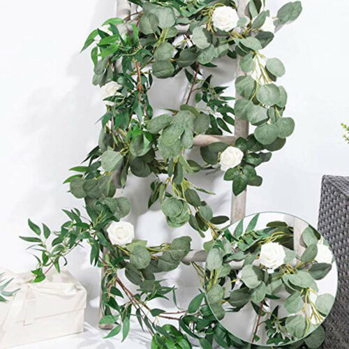 Eucalyptus Leaves Garland Willow Vines Twigs Leaf String Photography Decor #HF0