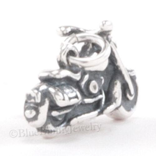 MOTORCYCLE charm Bike biker Pendant Sterling Silver solid 925 3D