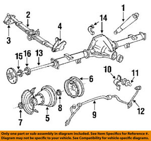 ford f350 rear axle diagram