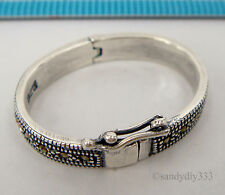 1x STERLING SILVER MARCASITE PEARL SHORTENER ENHANCER CLASP CONNECTOR #2271
