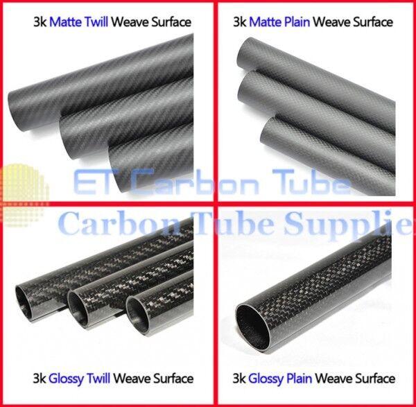 2pcs tubo in fibra di carbonio 20mm 21 22mm 23 24mm 25 26mm 27 28mm 29 30mm x 500 CF Rod