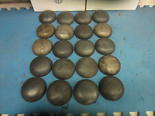 Pipe Caps:  steel, domed, weld on size 4 1/2- inch Outside Diameter. Lot of 20