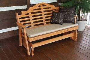Image Is Loading 6 Foot Outdoor Bench Swing Or Glider Cushion