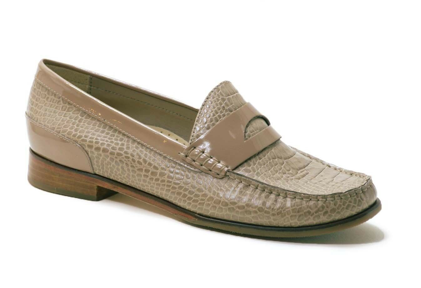 Cole Haan LAUREL Moc Maple Sugar  Croc Print Leather Lofers scarpe donna 7 NIB  Miglior prezzo