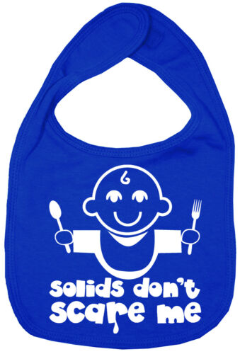 "Funny Baby Bib /""Solids Don/'t Scare Me/"" Cute Feeding Time BIB"