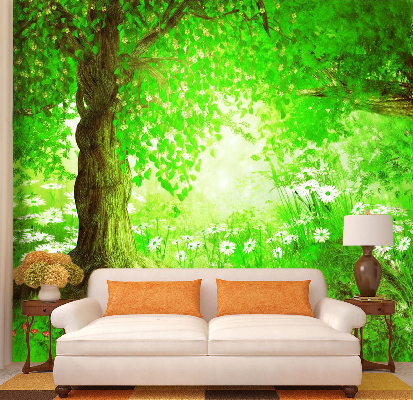 3D Schöne Bäume 195 Fototapeten Wandbild Fototapete Bild Tapete Familie Kinder