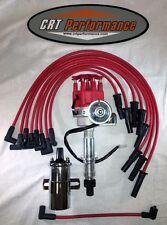 Pontiac 350 389 400 455 Small Cap Red Hei Distributor 45k Chrome Coil Wires