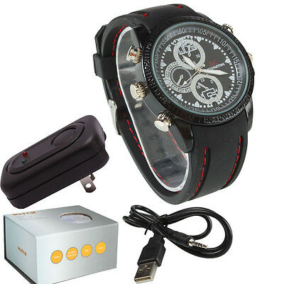8GB HD Camcorder Waterproof Smart Watch Camera DVR DV Digital Video Recorder Cam