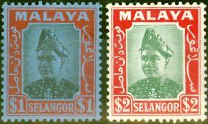 Selangor 1941 Set of 2 SG86-87 Fine Mtd Mint