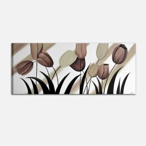 Quadri moderni dipinti a mano su tela con fiori per salone for Quadri moderni fiori dipinti a mano