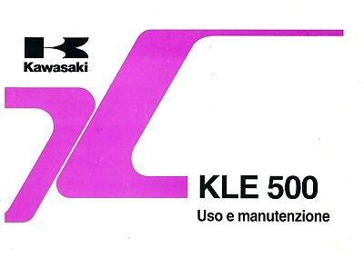 Contemplativo Libretto Uso E Manutenzione Kawasaki Kle 500