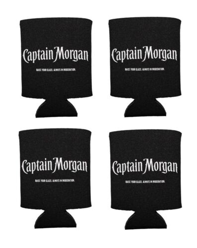 NEW Set of 4 Captain Morgan Bottle or Can Coozie Koozie Insulator Sleeve