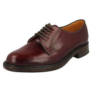 Hombre-Loake-borgona-leather-zapatos-con-cordones-771T-Ajuste-F